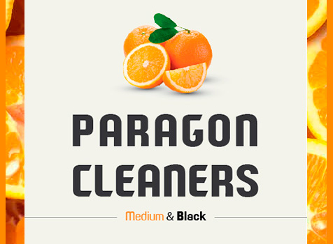 Paragon Cleaners, letras modernas